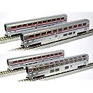 ■【KATO/カトー】(106-3518) Amtrak スーパーライナー客車フェーズIII 4両セット B 鉄道模型 外国車両 Nゲージ
