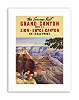 Summer Grand Canyon North Rim Bryce National Park Travel Canvas Art Print