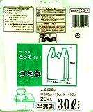 とって付きゴミ袋 30L 半透明 20枚入 CG-4
