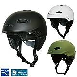 モニターキャンペーン! JWBA認定品 超軽量ウォータースポーツ用ヘルメット サイズ調整可 W.S.P. WATER WILD HELMET 安心のCE ウェイクボードやサップやカヌーやカイト、ウォータージャンプに! (カーキ, Sサイズ(51~56cm))