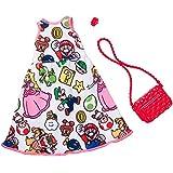 バービー 人形 洋服 スーパーマリオ プリントワンピース 服 アクセサリーファッションセット