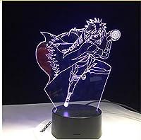 Sykdybz Shippuden Minato Naruto 3D LED ナイトライト 色が変わる ビジュアルイリュージョン テーブルランプ USB ホームデコレーション タッチリモートコントロール