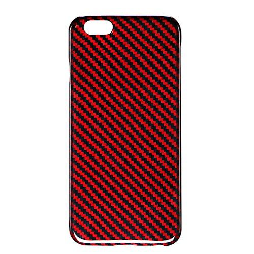 独特の風合い、タフ、ファッション光沢のある赤とハイレベル炭素繊維iPhone 7場合、パーソナライズされたデザイン