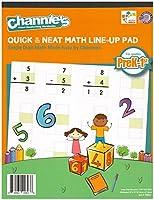 "Channieの数学ラインナップブックfor prek-1st Grades 80ページStrong用紙8.5"" X 11"" with Hardboard Back"