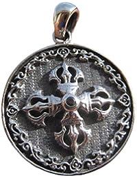 シルバー925 ViswaバジュラのペンダントネックレスA7 925 Silver Viswa Vajra Silver Pendant Necklace