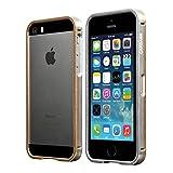 CAPDASE 日本正規品 iPhoneSE / 5s / 5 Alumor Bumper Duo Frame, Silver / Champagne Gold アルマー・バンパー デュオ フレーム (液晶保護シート・本体背面保護シート つき), シルバー / シャンパンゴールド MBIH5-00SC