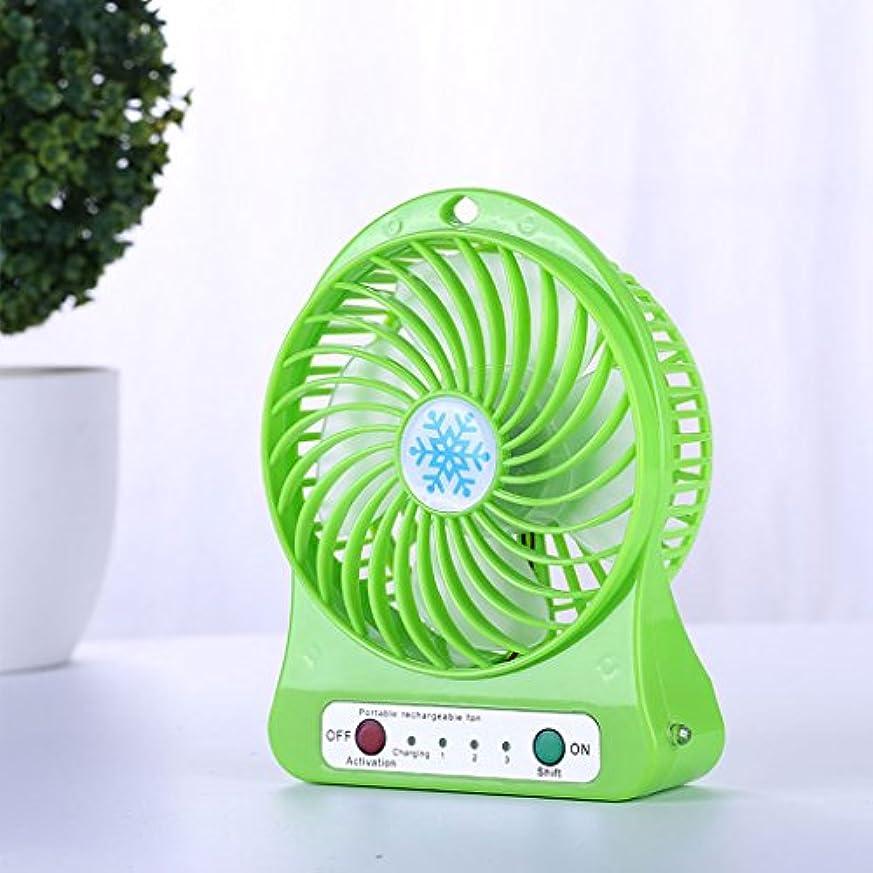 エンゲージメントエンドテーブルからケースファン USBミニファン、ポータブルハンドヘルド充電式ドミトリーベッドサイレントWindyポータブルファン、屋外旅行ホームミニファン ケースファン (Color : Green)