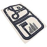 プレイマット ロードマップ 道路ラグ 綿製 キッズラグ 長方形 フロアーマット 75 * 125cm 赤ちゃん 子供