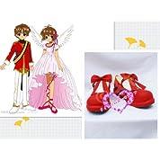 コスプレ通用靴♪カードキャプターさくら 木之本桜/木の本桜 コスチューム、コスプレ用ブーツ
