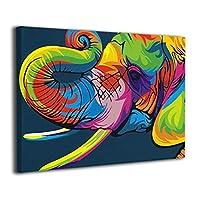 King Duck 象 絵画 インテリア インナー フレーム装飾画 アートフレーム 額縁なし アートボード キャンバスアート 壁画 アートパネル 壁掛け 木枠付き