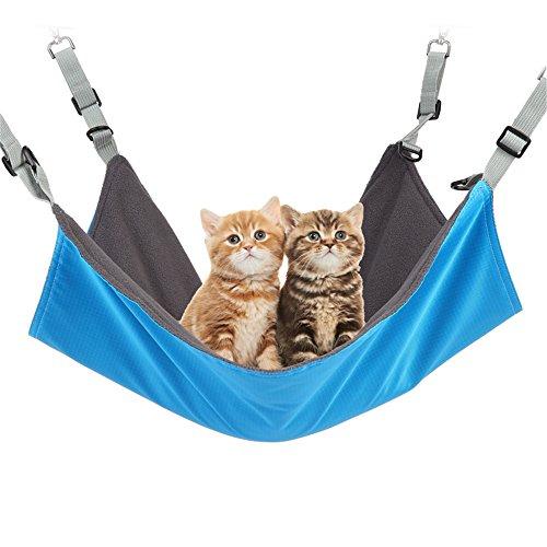 ハンモック 猫, 猫のハンモック小動物猫用ハンモック吊るす防水ベッド ケージ椅子のための/小さな犬/ウサギ/フェレット/ラット/その他小型動物 22 x17cm に冬夏両用ペット用品