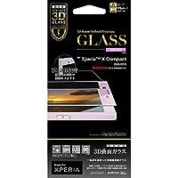 ラスタバナナ Xperia X Compact SO-02J フィルム 強化ガラス 全面保護 光沢 3Dフレーム ピンク エクスペリアX コンパクト 液晶保護フィルム 3S767XPXCP