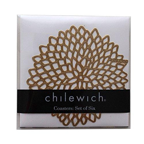 chilewich ( チルウィッチ ) コースター / DAHLIA ( ダリア )6枚セット( 専用パッケージ入り )/ BRASS