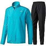 アディダス(adidas) RESPONSE ウインドジャケットM&パンツ 上下セット(エナジーブルー/ブラック) BUF49-B47709-BUF48-B47707 M