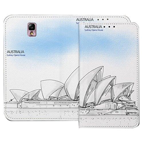 Galaxy S4 / ギャラクシー S4 (SC-04E) 対応 ケース Pen World Flip Wallet スケッチ世界 フリップ ウォーレット ケース スマホ カバー Australia / オーストラリア