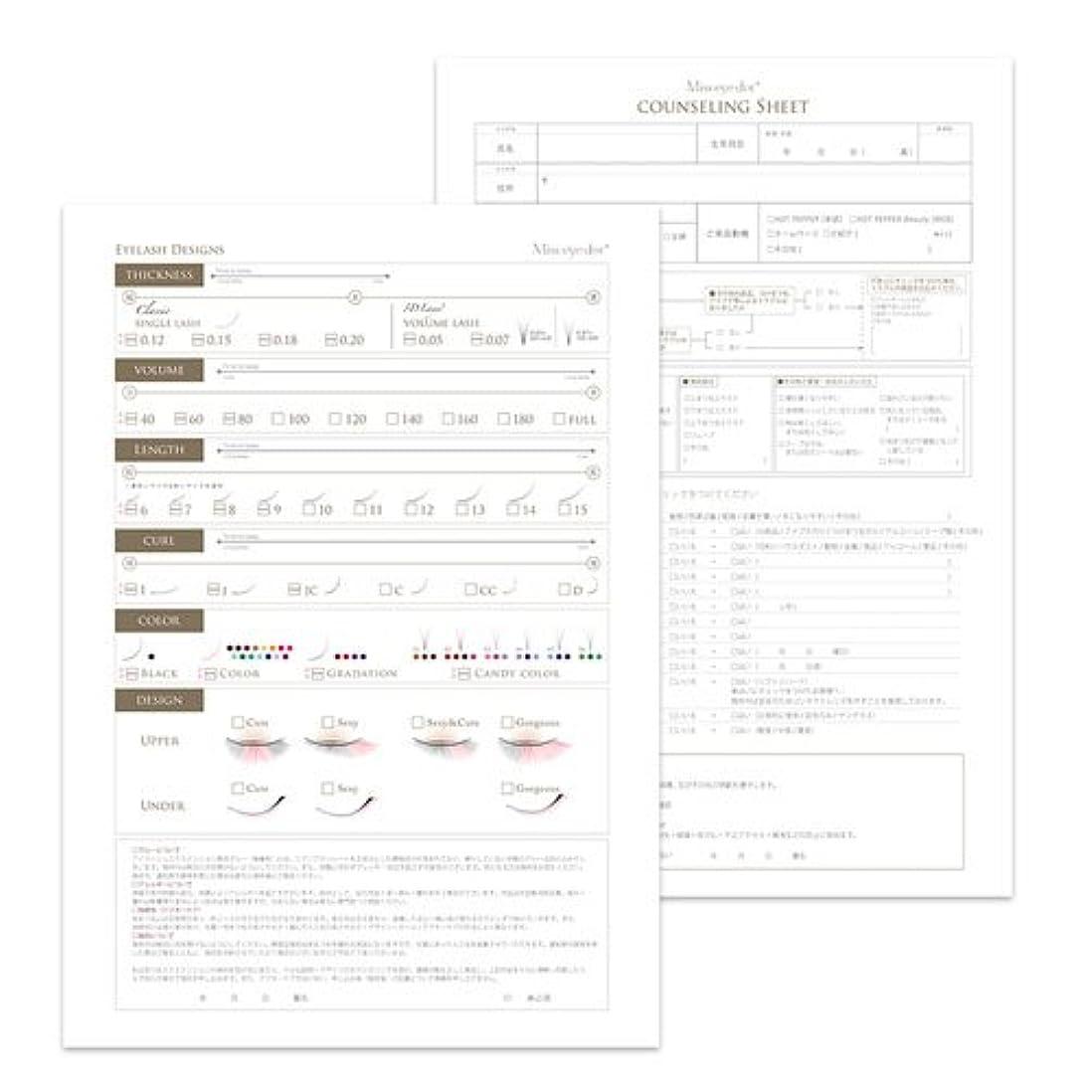 調べる登録するものカルテ デザインシート (両面) 100枚