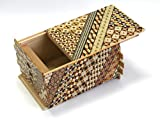 寄木細工 秘密箱72+1回仕掛け 小寄木 Japanese puzzle box 72steps with secret compartment Koyosegi