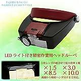 ヘッドルーペ 拡大鏡 シニアグラス LEDライト付 レンズ倍率 1.5倍/3倍/8.5倍/10倍/老眼/精密作業/_75145
