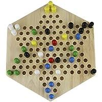 おもちゃ 子供 ゲーム チェッカー ダイヤモンドゲーム 木製基盤 ボードゲーム 知育玩具 脳力 トレーニング 大人でも楽しめるゲーム