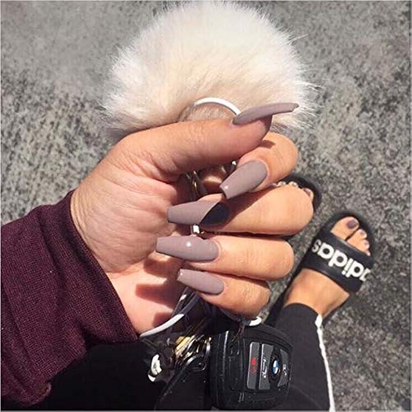 記憶ディレクターケーブルカーXUTXZKA グレーの純粋な色の偽の爪の女性の完全な爪のヒントの花嫁の偽の爪