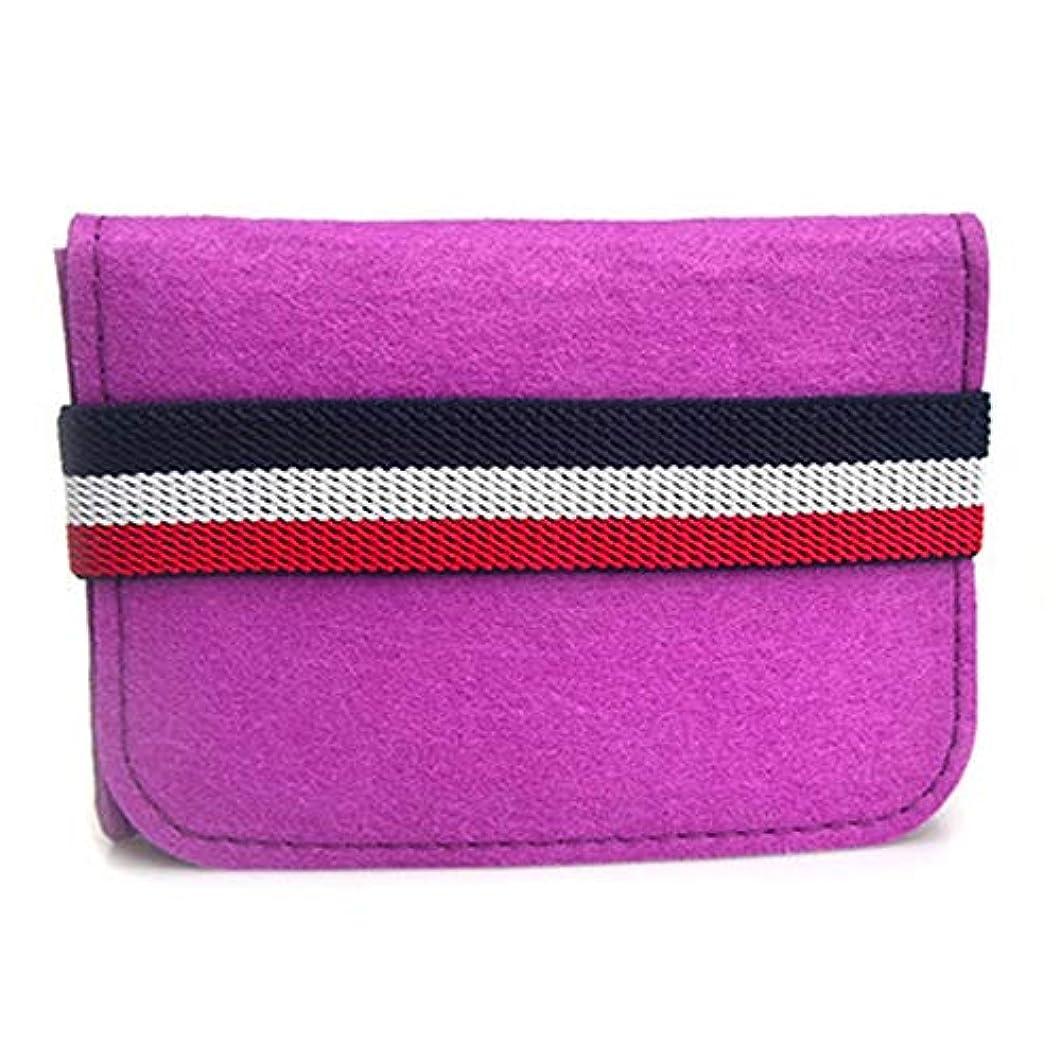 レギュラー学生隣接エッセンシャルオイルボックス バッグスーツケースのエッセンシャルオイルバッグは10ML 6キャリングケーストラベルポーチフェルトローラーボトルローラーボトルの上に配置することができます アロマセラピー収納ボックス (色 : ピンク, サイズ : 13.5X10.3X3.5CM)