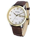 Comtex 腕時計 機械式 自動巻き/手巻き メンズ 日付曜日表示 メカニカル アナログ ウオッチ 時計 ゴールド