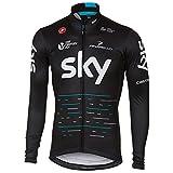 自転車ウェア 2017 Team Sky Sサイズ 長袖ジャージ 黒 Castelli