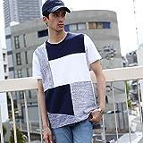 (ティーケー タケオキクチ) tk.TAKEO KIKUCHI パッチワークTシャツ 17032713 03(L) ネイビー(393)