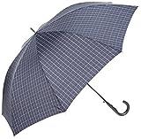 (ムーンバット) MOONBAT(ムーンバット) (ミズノ) MIZUNO 紳士ジャンプ式長傘(少し大きめ親骨70cm) 耐風傘 格子柄 21-015-83861-03 75-70 ディープブルー 親骨の長さ70cm