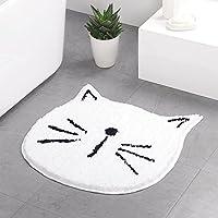 Irichen 漫画かわいい猫玄関マットスーパー吸収泥マットノンスリップドアマットフロントドアインサイドフロアダートマット Irichenによる室内装飾 (色 : T1, Size : 60*60CM)