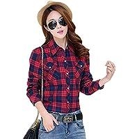 【TaoTech】 シャツ 裏起毛 コットン100% チェック柄 5色 厚手 アウター 長袖 ビジネス 暖かい レディース