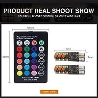 ONEWELL高品質RGB車幅ランプT10シリコンCOB車LEDカラフルな小さなランプライセンスプレートライトフラッシュ