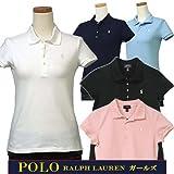 Ralph Lauren(ラルフローレン) ガールズ, #313573242 ベーシック半袖鹿の子ポロシャツ (USガールズ L(日本サイズS-M), ネイビー) [並行輸入品]