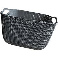 Fenteer バスケット オーガナイザー 収納 バスケット 様々な物 収納 整理便利 全2色3サイズ  - ブラック, M