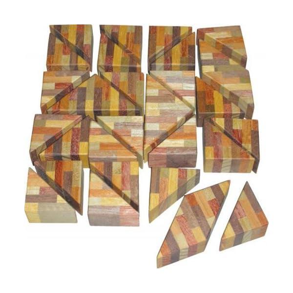 CA010 寄せ木三角パズルの商品画像