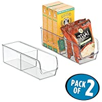 mDesign linusbinzpacks Pack of 2 Bins クリア 7399MDK