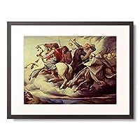 エドワード・ヤコプ・フォン・スタンレーヌ Steinle, Edward Jakob von 「The horsemen of the apocalypse. 1838」 額装アート作品