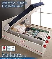 お客様組立 フラットヘッドコンセント付跳ね上げ収納ベッド Mulante ムランテ 薄型プレミアムポ