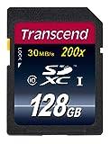 【Amazon.co.jp限定】Transcend SDXCカード 128GB Class10 (無期限保証) TS128GSDXC10E (FFP)