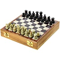 Set of 12 – ShalinIndia、石のチェスセットとボード、8インチ