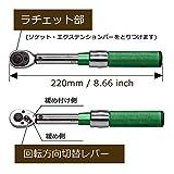 AKM プレセット型トルクレンチ セット 差込角6.35mm(1/4インチ) 2-20N・m 2/2.5/3/4/5/6/8/10mm 5mm-L ソケット 自転車用 バイク ケース付き 画像