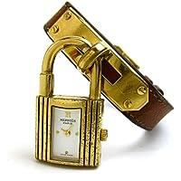 [エルメス]Hermes 腕時計 ケリーウオッチ ゴールド ブラウン 白文字盤 レディース 中古