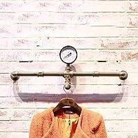 LXSnail 衣料品店のディスプレイラック、LOFTレトロ工業風水パイプハンガー、リビングルーム鍛造壁掛け衣類ラック コートラック (色 : B, サイズ さいず : 60 cm 60 cm)
