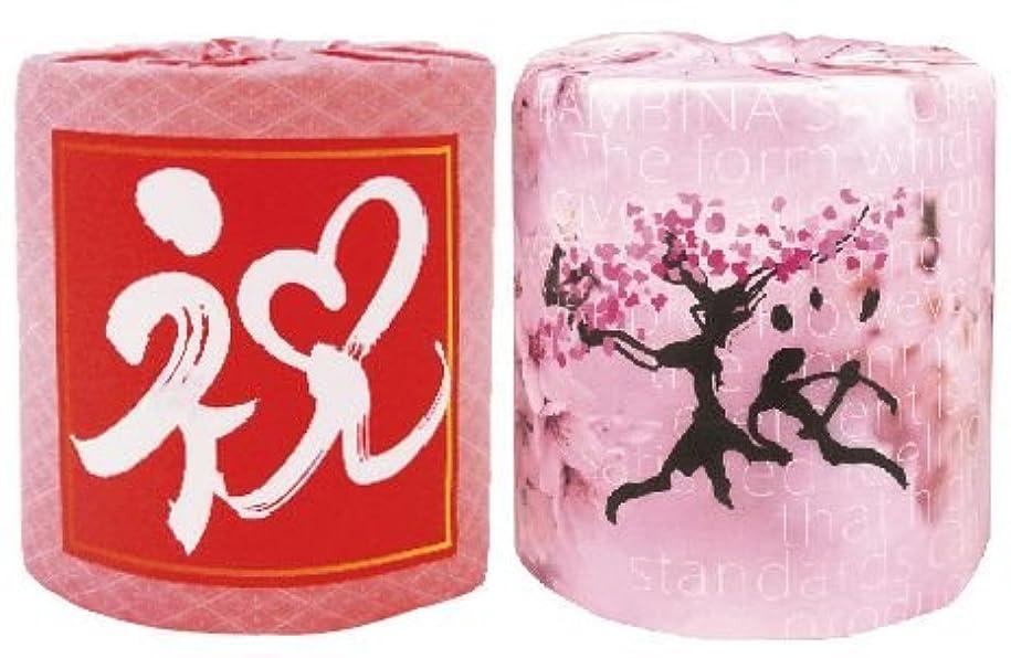 シャープポスト印象派切断するピンクの花柄 ピンクの桜柄 祝い&桜ロール 50個(各25個)入  by 林製紙