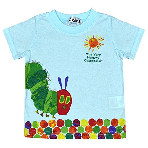 アスナロ(トップス 半袖tシャツ) ERIC CARLE はらぺこあおむし 半袖Tシャツ ベビー 子供 プリント80 サックス