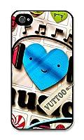 iPhone4SケースVUTTOO 私は音楽を愛する iPhone4/4S専用ケース(ブラック) [並行輸入品]