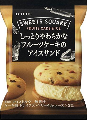 ロッテ スイーツスクエアしっとりやわらかなフルーツケーキのアイスサンド 24...