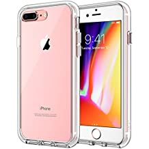 JETech Case for Apple iPhone 8 Plus iPhone 7 Plus, Shock-Absorption Bumper Cover, Anti-Scratch Clear Back, HD Clear