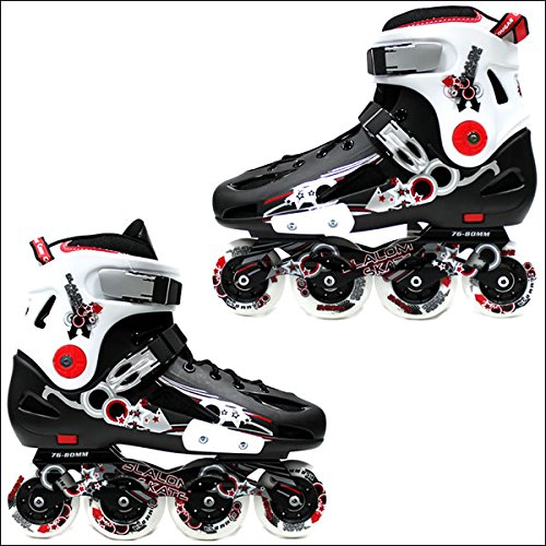 COUGAR(クーガー) インライン ハードシェル仕様 ブラック×ホワイト×レッド 男性用 メンズ インラインスケート INLINE SKATE 27.5cm(45)