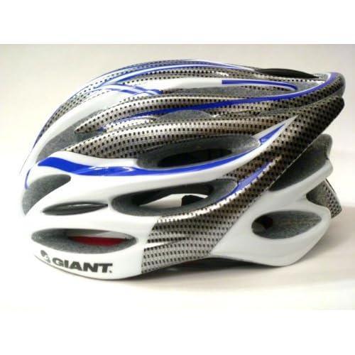 GIANT ジャイアント サイクル ヘルメット アジャスターサイズ調整可能 通常 並行輸入品 (カーボン調×白×青)